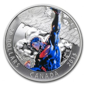 1 oz Silver Iconic Superman™ Comic Book Covers: Superman Unchained #2 Coloured Coin 2015