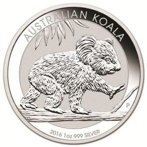 1 oz Silver Perth Mint Koala Coin 2016