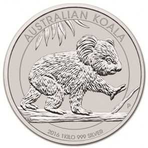 1 kilo Silver Perth Mint Koala Coin 2016