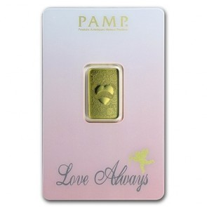 5 gram Gold PAMP Love Always Bar