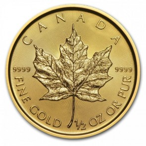 1/2 oz Gold Canadian Maple Leaf Coin Pre-Year