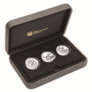 Silver Perth Mint Australian KKK High Relief 1 oz 3 coin Set 2015
