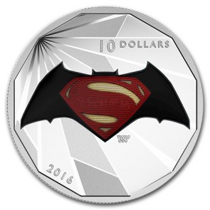 1/2 oz Silver Batman v Superman: Logo Coin 2016