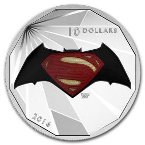 1/2 oz Silver Batman v Superman: Logo Coin 2016