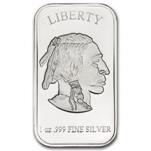 1 oz Silver Buffalo Bar