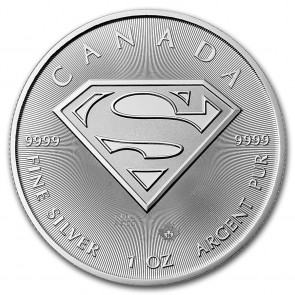 1 oz Silver RCM Superman S-Shield Coin 2016