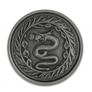 1 oz Silver Serpent of Milan Antiqued Coin 2020