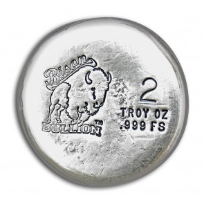 2 oz Silver Bison Bullion Round