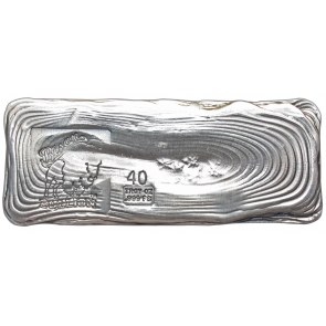 40 oz Silver Bison Bullion Hand poured Bar