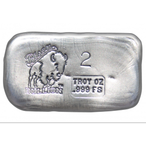 2 oz Silver Bison Bullion Hand poured Bar