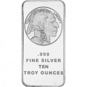 10 oz Silver Buffalo Bar