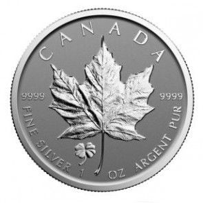 1 oz Silver Canadian Maple Leaf Clover Privy Coin 2016