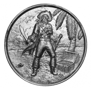 2 oz Silver The Captain Ultra High Relief Round
