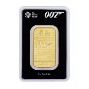 1 oz Gold Royal Mint James Bond 007 Bars