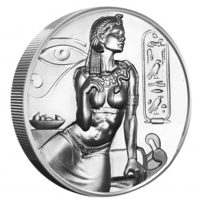 2 oz Silver Cleopatra Ultra High Relief Round