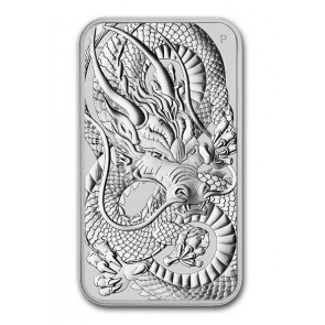 1 oz Silver Perth Mint Dragon Rectangular Coin 2021