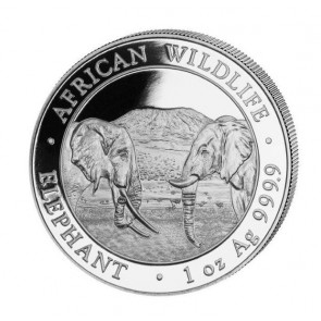 1 oz Silver Somalian Elephant Coin 2020