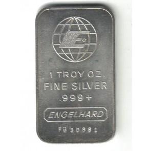 1 oz Silver Engelhard Bars