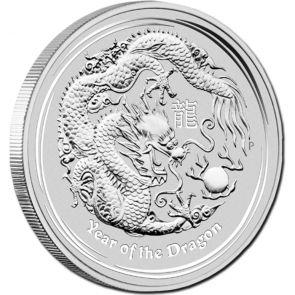 1/2 oz Silver Perth Mint Year of the Dragon Coin 2012