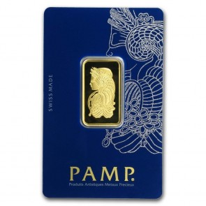 1/2 oz Gold PAMP Suisse Fortuna Veriscan Bar