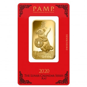 1 oz Gold PAMP Suisse Mouse Bar