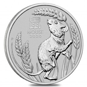 1 oz Platinum Perth Mint Mouse Coin 2020
