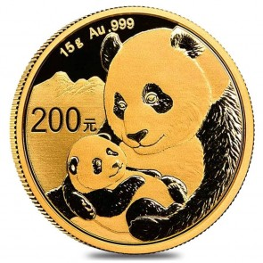 15 gram Gold Chinese Panda Coin 2019