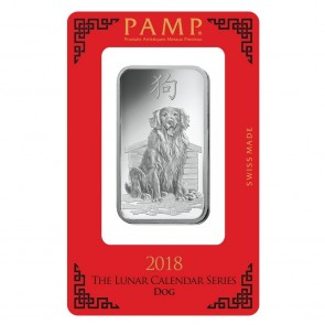 1 oz Silver PAMP Suisse Dog Bar