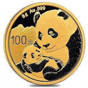 8 gram Gold Chinese Panda Coin 2019