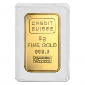 5 gram Gold Credit Suisse Liberty Bar