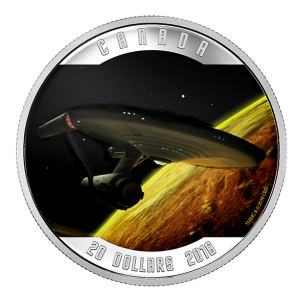 1 oz Silver RCM Star Trek - Enterprise Coloured Coin 2016