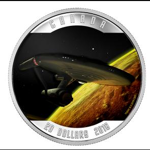 1 oz Silver RCM Star Trek - Enterprise Coloured Coin 2016