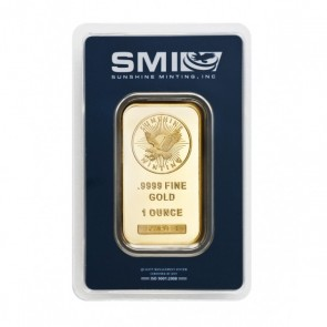 1 oz Gold Sunshine Mint Bar