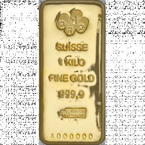 1 kilo Gold Pamp Suisse Bar