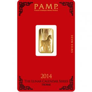 5 gram Gold PAMP Suisse Horse Bar