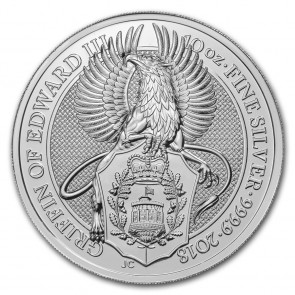 10 oz Silver Queen's Beast - The Griffin Coin 2018