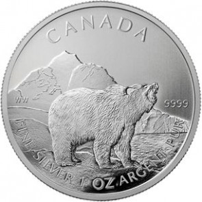 1 oz Silver Wildlife Series Grizzly Bear Coin 2011