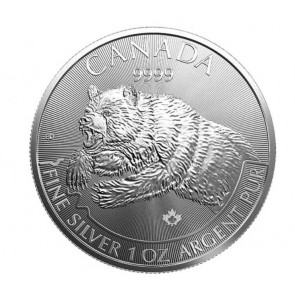 1 oz Silver Predator Series - Grizzly Coin 2019