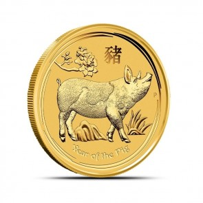 1/2 oz Gold Perth Mint Year of the Pig Coin 2019