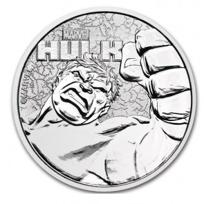 1 oz Silver Tuvalu Marvel Series Hulk .9999 Coin 2019