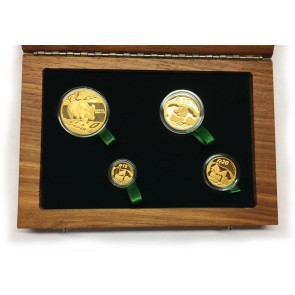Gold Natura Series - Black Rhino Coin 4 Coin Set 2010