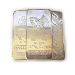 10 oz Silver Engelhard Bar