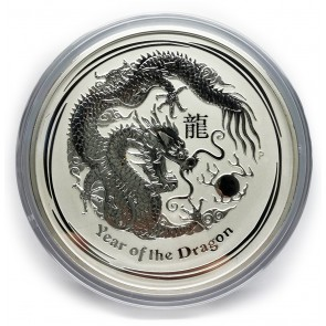 1 kilo Silver Perth Mint Year of the Dragon Coin 2012