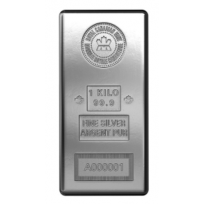 1 Kilo Silver Royal Canadian Mint Bar