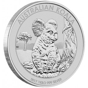 1 Kilo Silver Perth Mint Koala Coin 2017