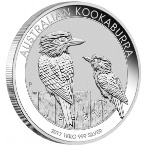 1 kilo Silver Perth Mint Kookaburra Coin 2017