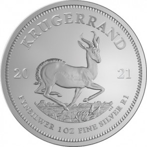 1 oz Silver South African Krugerrand BU Coin 2021