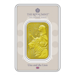1 oz Gold Royal Mint Una and the Lion Coin 2021