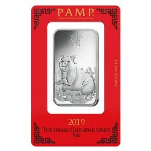 1 oz Silver PAMP Suisse Pig Bar