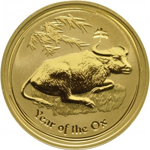 1 oz Gold Perth Mint Year of the Ox Coin 2009